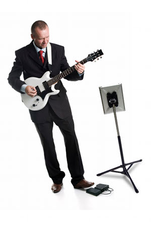 Guitar Player in Suit with BT105 PB and iPad stand-small