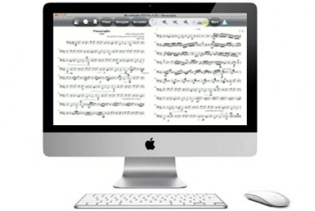 MusicReader PDF 4 let you view view full size music pages